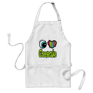 Bright Eye Heart I Love Cheesecake Adult Apron