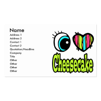 Bright Eye Heart I Love Cheesecake Double-Sided Standard Business Cards (Pack Of 100)