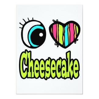 "Bright Eye Heart I Love Cheesecake 6.5"" X 8.75"" Invitation Card"
