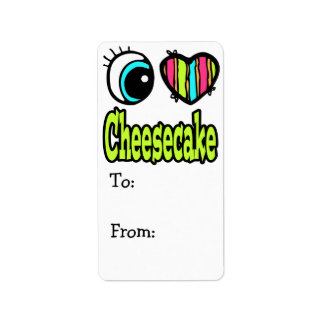 Bright Eye Heart I Love Cheesecake Label