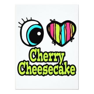 "Bright Eye Heart I Love Cherry Cheesecake 6.5"" X 8.75"" Invitation Card"