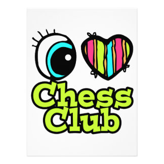 Bright Eye Heart I Love Chess Club Personalized Announcement