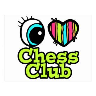 Bright Eye Heart I Love Chess Club Postcard