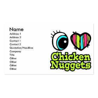 Bright Eye Heart I Love Chicken Nuggets Business Card