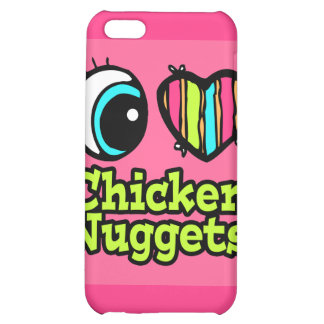 Bright Eye Heart I Love Chicken Nuggets Case For iPhone 5C