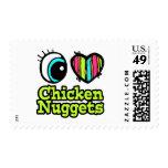 Bright Eye Heart I Love Chicken Nuggets Postage Stamp