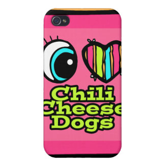Bright Eye Heart I Love Chili Cheese Dogs Cases For iPhone 4