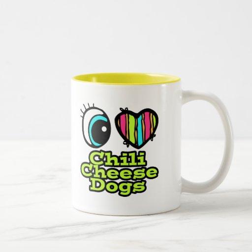 Bright Eye Heart I Love Chili Cheese Dogs Two-Tone Coffee Mug