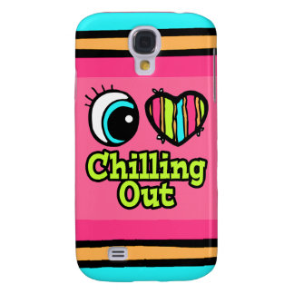 Bright Eye Heart I Love Chilling Out Samsung Galaxy S4 Cover