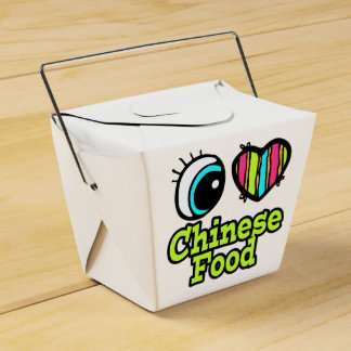 bright eye heart i love chinese food favor box