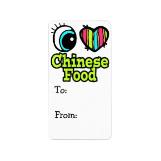Bright Eye Heart I Love Chinese Food Label