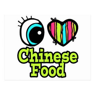 Bright Eye Heart I Love Chinese Food Postcard