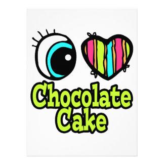 Bright Eye Heart I Love Chocolate Cake Invite