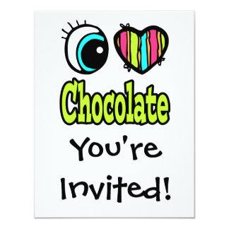 Bright Eye Heart I Love Chocolate Card