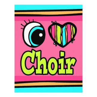 "Bright Eye Heart I Love Choir 8.5"" X 11"" Flyer"