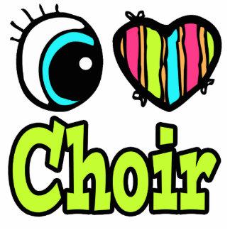 Bright Eye Heart I Love Choir Photo Sculpture Keychain