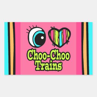 Bright Eye Heart I Love Choo Choo Trains Sticker