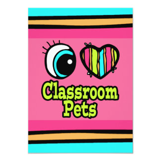Bright Eye Heart I Love Classroom Pets Personalized Announcements