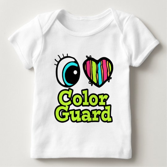 Bright Eye Heart I Love Color Guard Baby T-Shirt