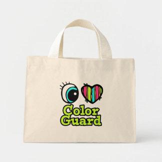 Bright Eye Heart I Love Color Guard Canvas Bags