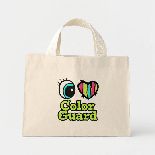 Bright Eye Heart I Love Color Guard Mini Tote Bag