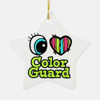Bright Eye Heart I Love Color Guard Christmas Ornaments