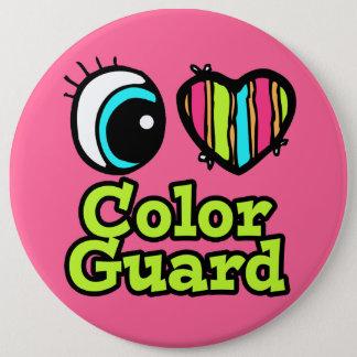 Bright Eye Heart I Love Color Guard Pinback Button