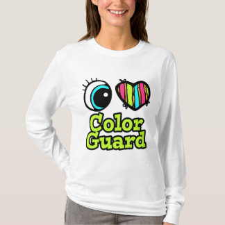 Bright Eye Heart I Love Color Guard T-Shirt