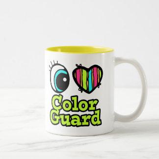 Bright Eye Heart I Love Color Guard Two-Tone Coffee Mug