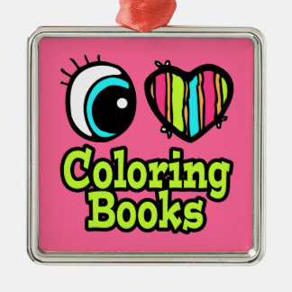 Bright Eye Heart I Love Coloring Books Christmas Ornaments