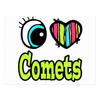 Bright Eye Heart I Love Comets Postcard