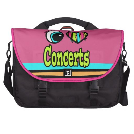 Bright Eye Heart I Love Concerts Commuter Bag