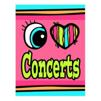 Bright Eye Heart I Love Concerts Postcard