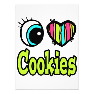 Bright Eye Heart I Love Cookies Personalized Invitation