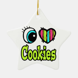 Bright Eye Heart I Love Cookies Christmas Ornaments