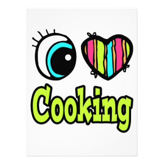 Bright Eye Heart I Love Cooking Personalized Invitation