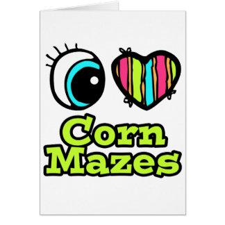 Bright Eye Heart I Love Corn Mazes Card