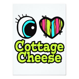 Bright Eye Heart I Love Cottage Cheese 6.5x8.75 Paper Invitation Card