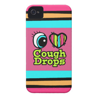 Bright Eye Heart I Love Cough Drops iPhone 4 Cover