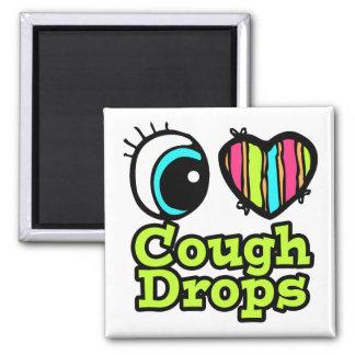 Bright Eye Heart I Love Cough Drops Fridge Magnets