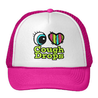 Bright Eye Heart I Love Cough Drops Trucker Hat