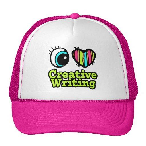 Bright Eye Heart I Love Creative Writing Mesh Hat