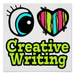 Bright Eye Heart I Love Creative Writing Posters
