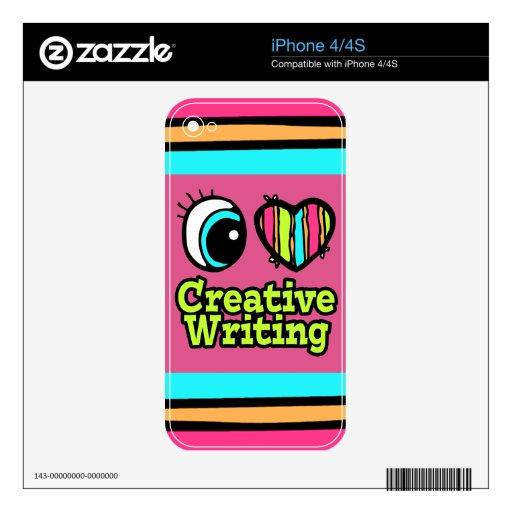Bright Eye Heart I Love Creative Writing Skin For The iPhone 4S