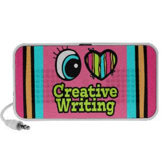 Bright Eye Heart I Love Creative Writing iPod Speaker