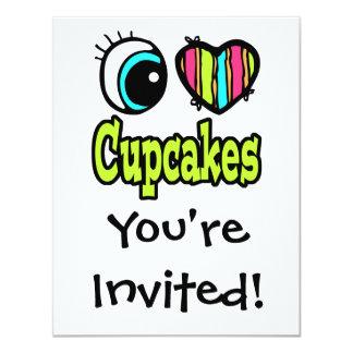 Bright Eye Heart I Love Cupcakes Card