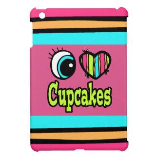 Bright Eye Heart I Love Cupcakes iPad Mini Cases