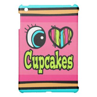 Bright Eye Heart I Love Cupcakes iPad Mini Case