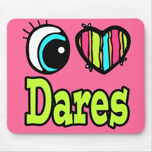 Bright Eye Heart I Love Dares Mousepads
