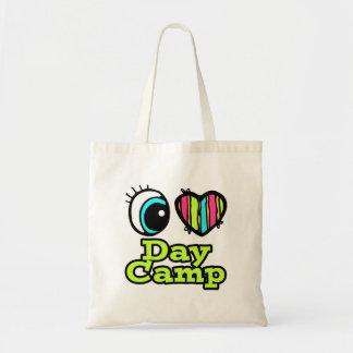 Bright Eye Heart I Love Day Camp Tote Bag